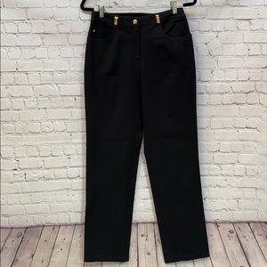 St. John Sport trouser w/ gold detail high waisted